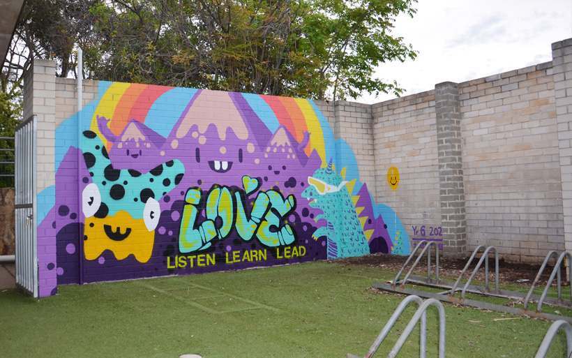 new mural at school canberra