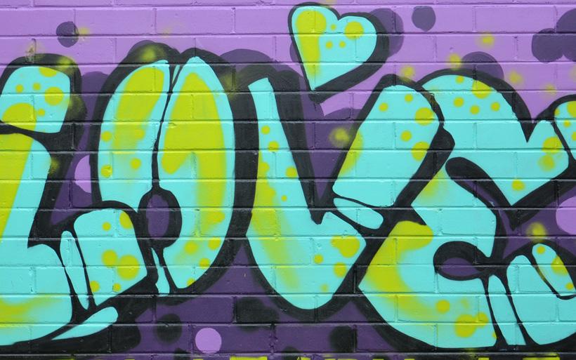 positive mural message