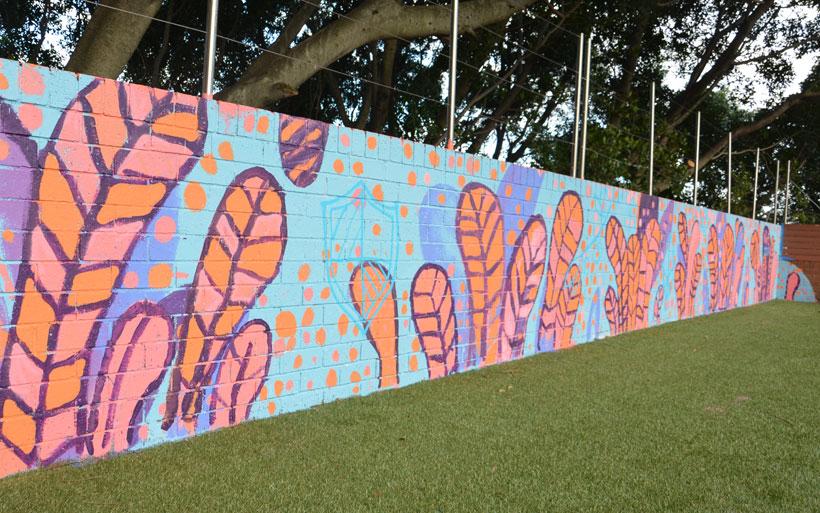 part of school mural